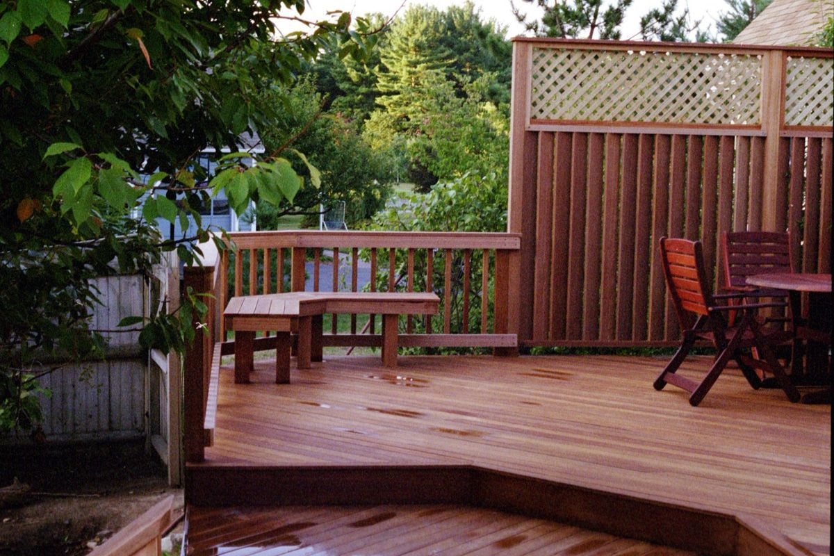 Deck privacy ideas outdoor blinds for porch lowes small for Garden decking ideas pinterest