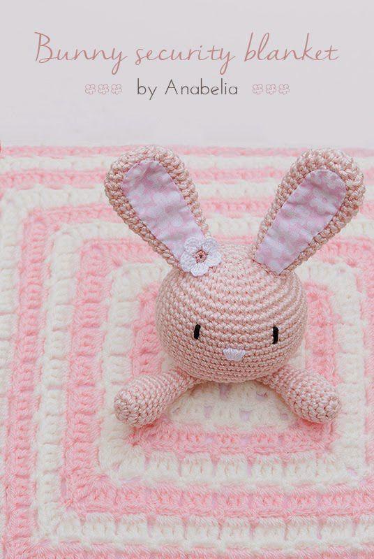 Bunny security blanket crochet pattern - Free | muñecos | Pinterest ...