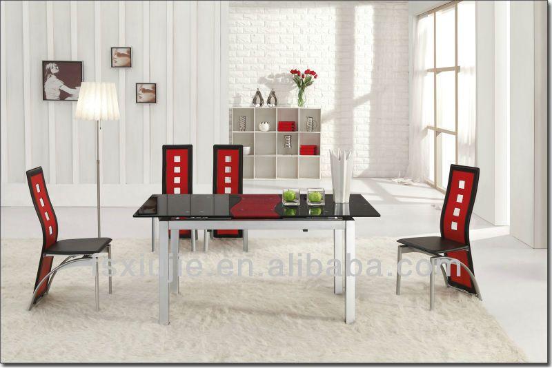 mesas de comedor cristal modernas en rojo - Buscar con Google