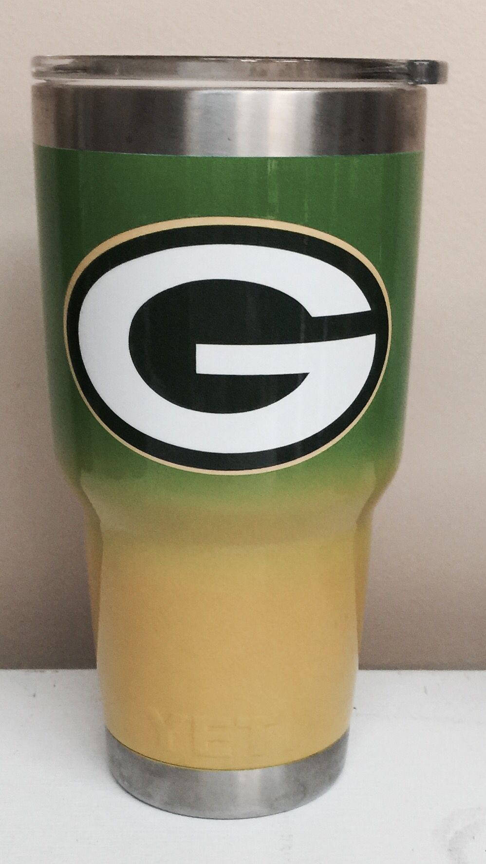 Green Bay Yellow To Green Fade 30oz Yeti Cup Lonestar Concepts Design Lonestarjess15 Yahoo Com Diy Tumblers Yeti Tumbler Green Bay Packers Shirts
