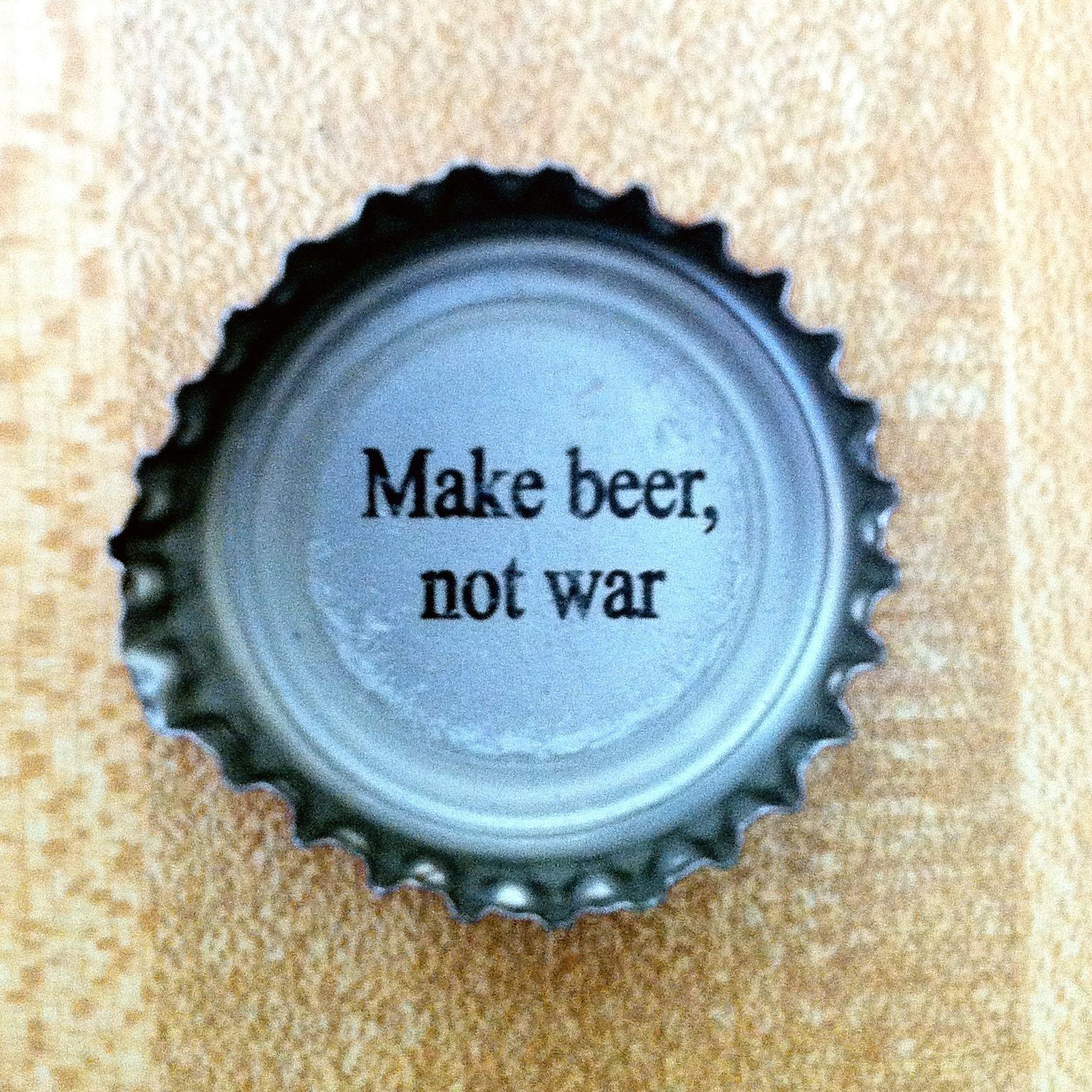 Make beer, not war. (Saint Arnold Brewing cap) #craftbeer