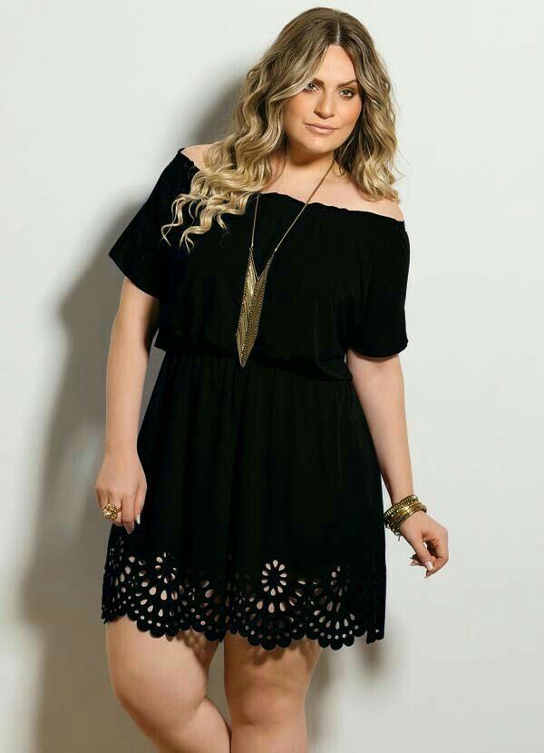 Vestido negro Fashions Curvy Girl Styles Pinterest