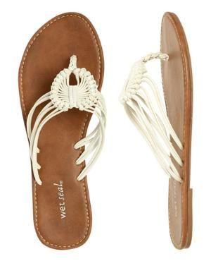 Macrame Flip Flop   Shop Shoes at Wet Seal