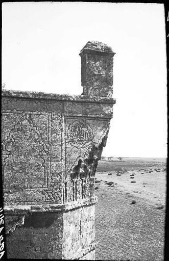 Porte de ville (Chellah)  Partie supérieure d'une tour  1913