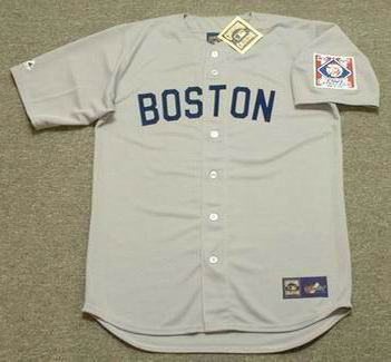 detailed look 06e2d a5276 TED WILLIAMS Boston Red Sox 1939 Away Majestic Throwback ...