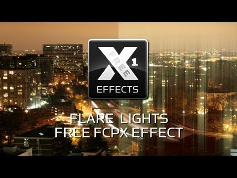XEffects Flare Lights Free Plugin for Final Cut Pro X (FCPX