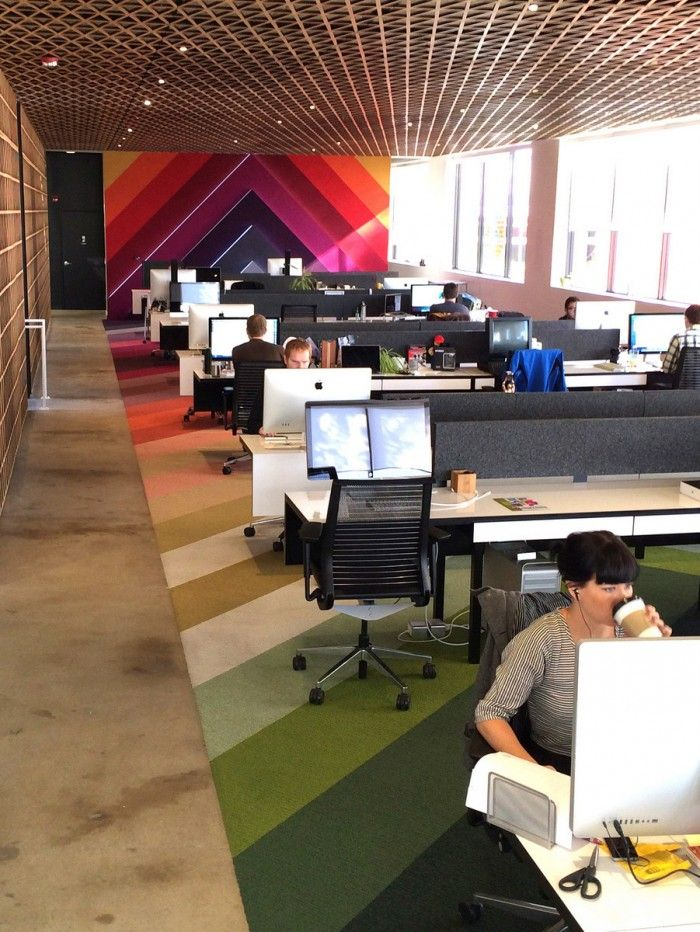 A Fresh Look At Panic Softwares Offices #office: office space, office design, office interiors - Flooring example - Sam