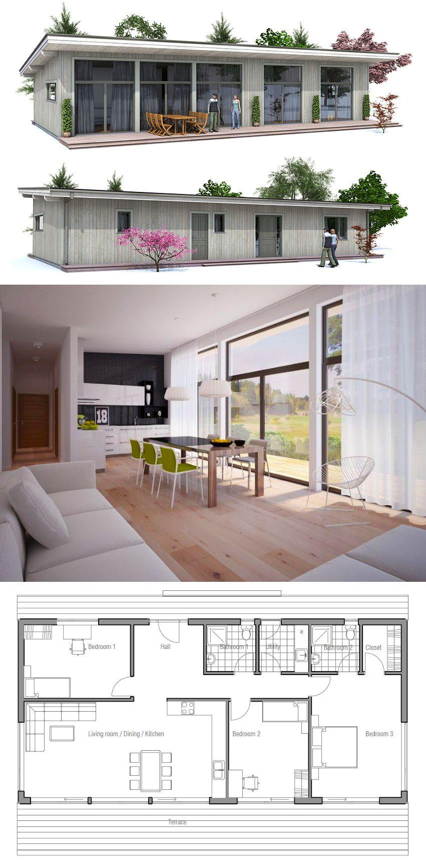 grundriss kleines haus mit pultdach haeuser pinterest grundrisse kleiner h user pultdach. Black Bedroom Furniture Sets. Home Design Ideas