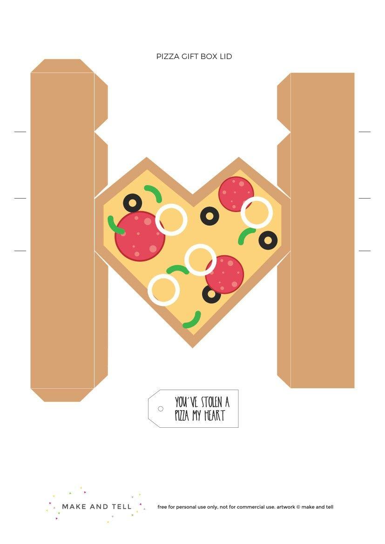 Parte 2 de 2. Caja pizza-corazón. | ΚΟΥΤΙΑ | Pinterest | Box, Crafty ...