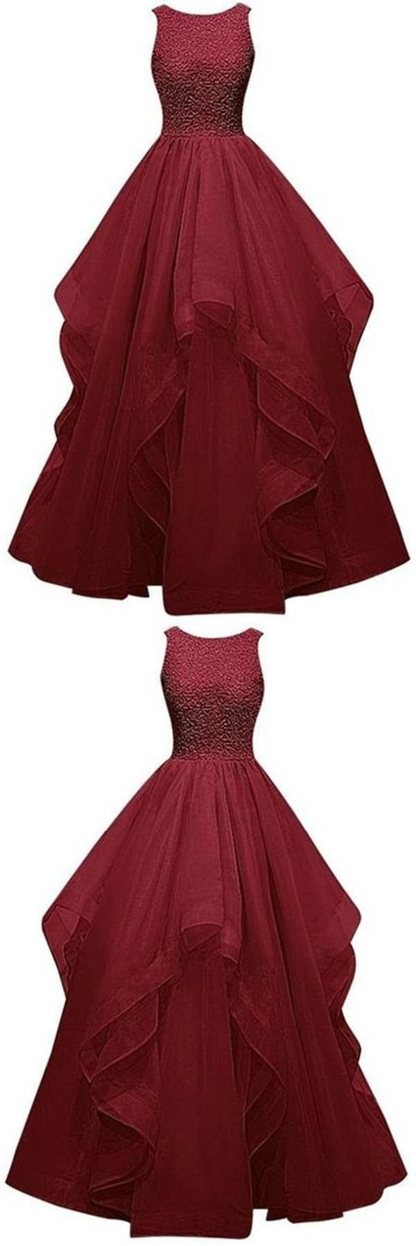 Burgundy prom dresses pretty prom dresses ball gown prom dresses