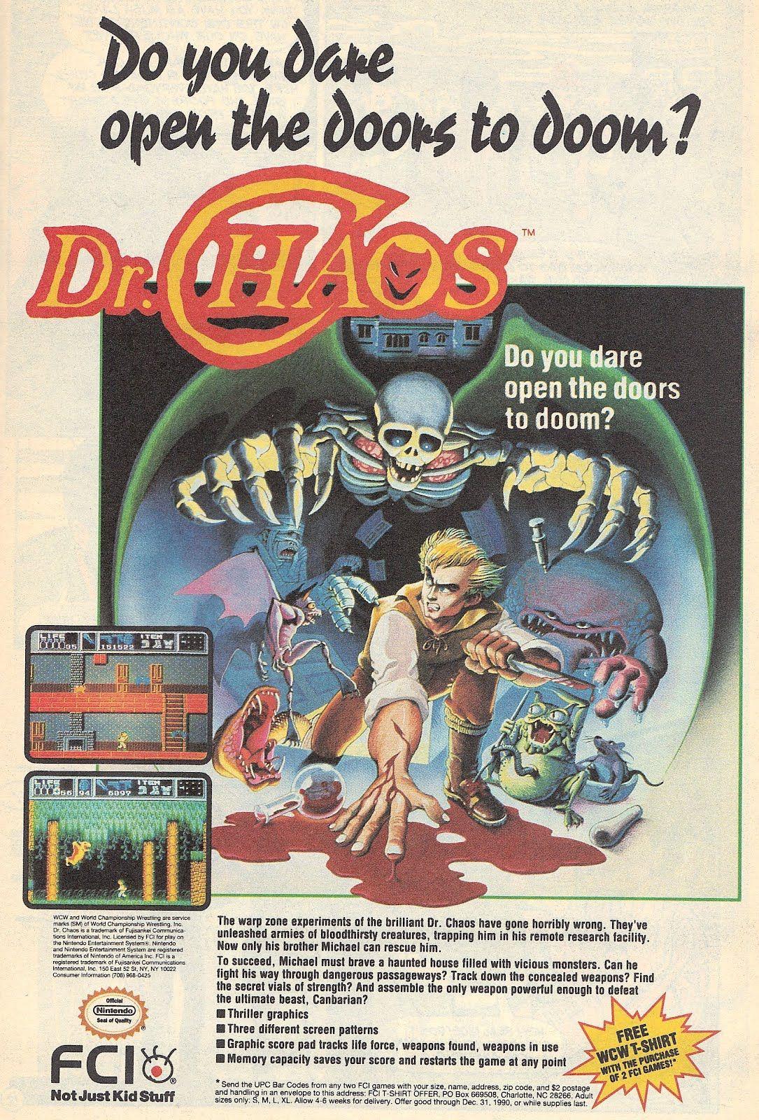 dr chaos Nintendo ad Retro gaming art, Retro video games