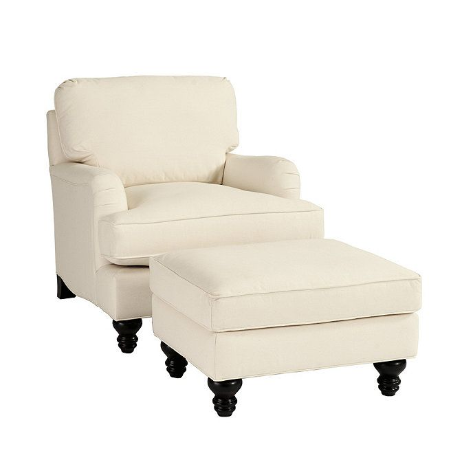 Ballard Designs Eton Club Chair U0026 Ottoman Off White Twill $1299