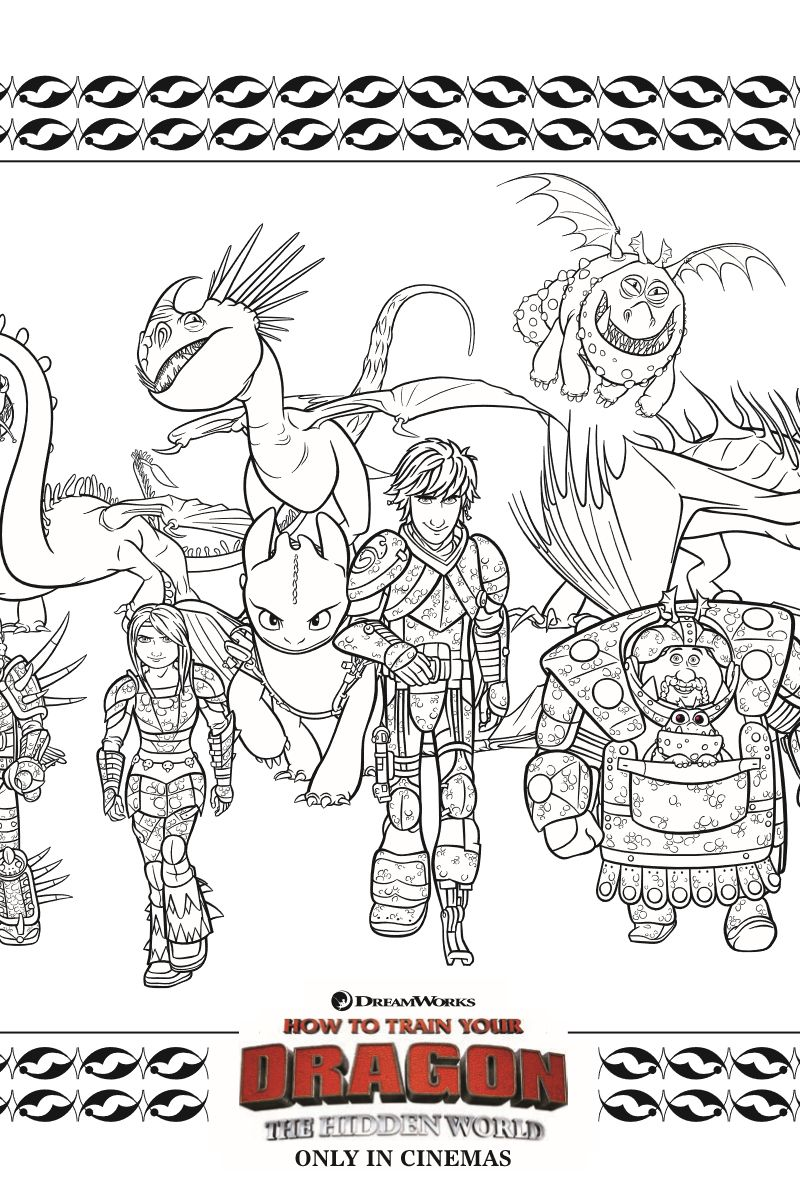 HTTYD Coloring Page Free Printable Activity Coloring