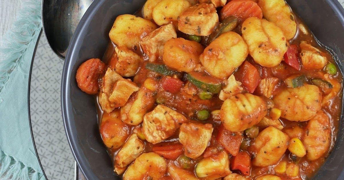Gnocchi-Hähnchen-Pfanne | Pinterest | Hähnchen pfanne rezepte, Essen ...