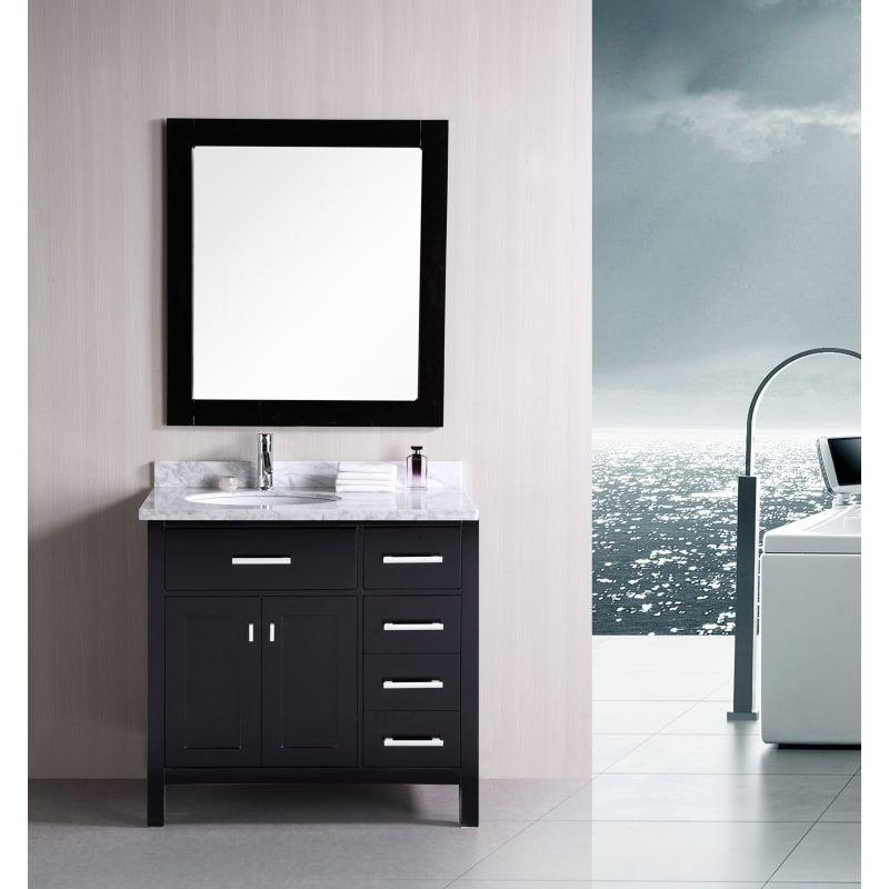 Design Element Dec076d R London 36 Free Standing Vanity Set With