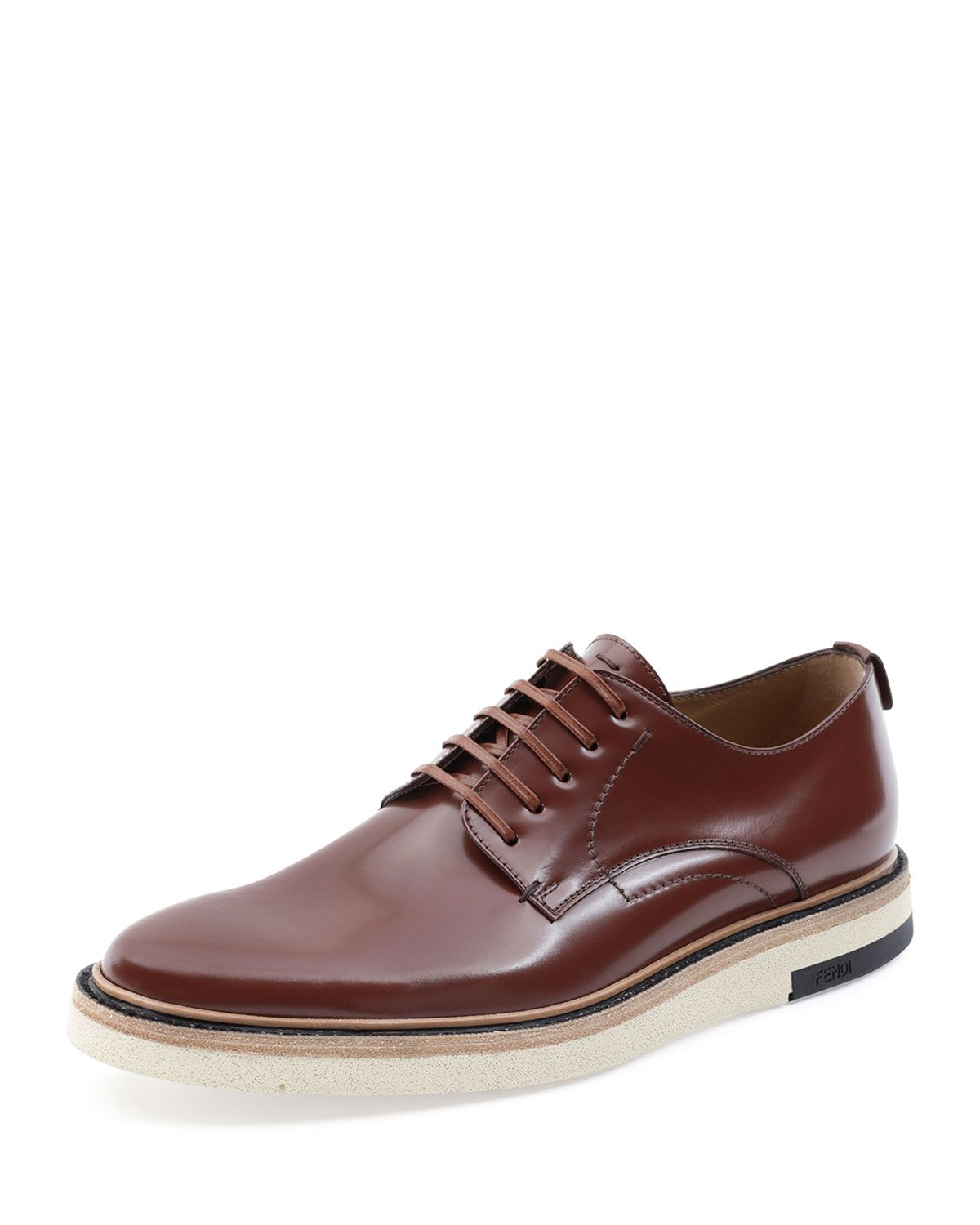 Fendi Hunting Lace-Up Shoe, Brown