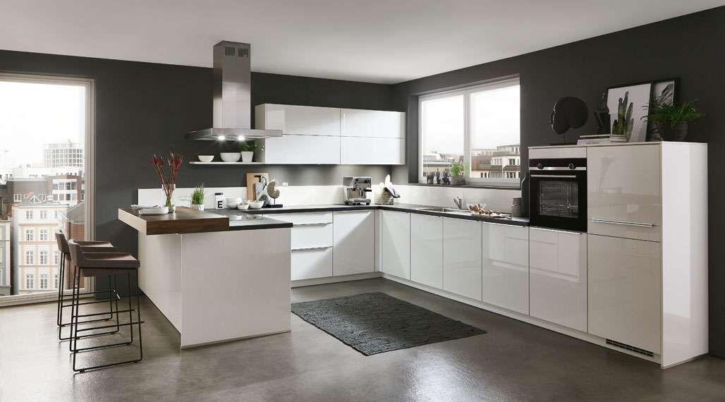 Linea Inselküche Flash mit Junker Geräten Inselküche