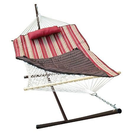 Patio 12 Hammock Stand Set Natural Red Brown Easter Day