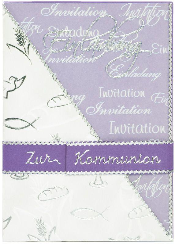 Einladungskarte Zur Kommunion Http://www.basteln Mit Buttinette.de