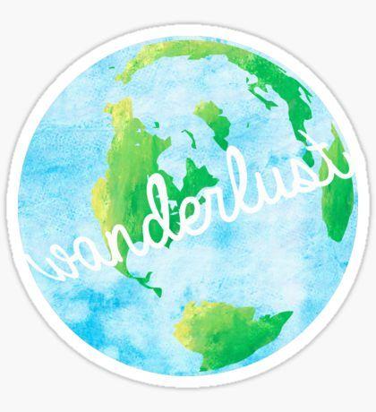 Wanderlust sticker logo - Wanderlust geschenke ...