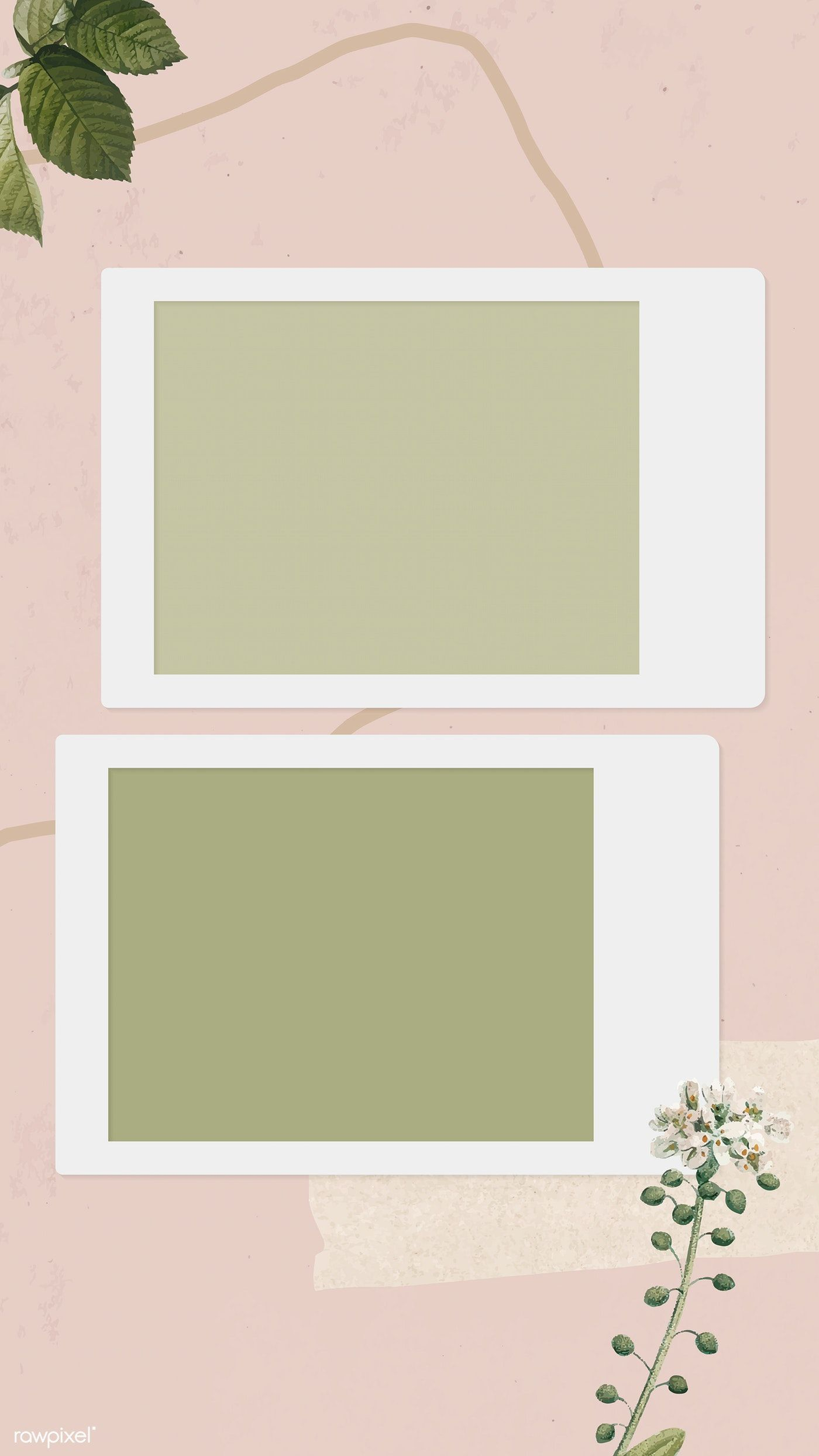 Download Premium Vector Of Blank Collage Photo Frame Template On Pink Instagram Frame Template Photo Collage Template Instagram Frame
