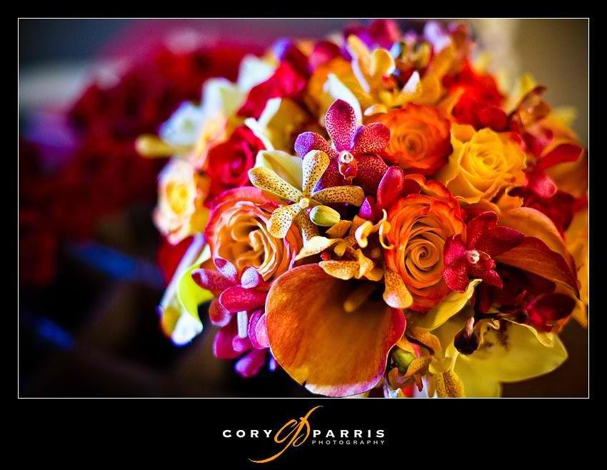 I originally was thinking Sunset color flowers
