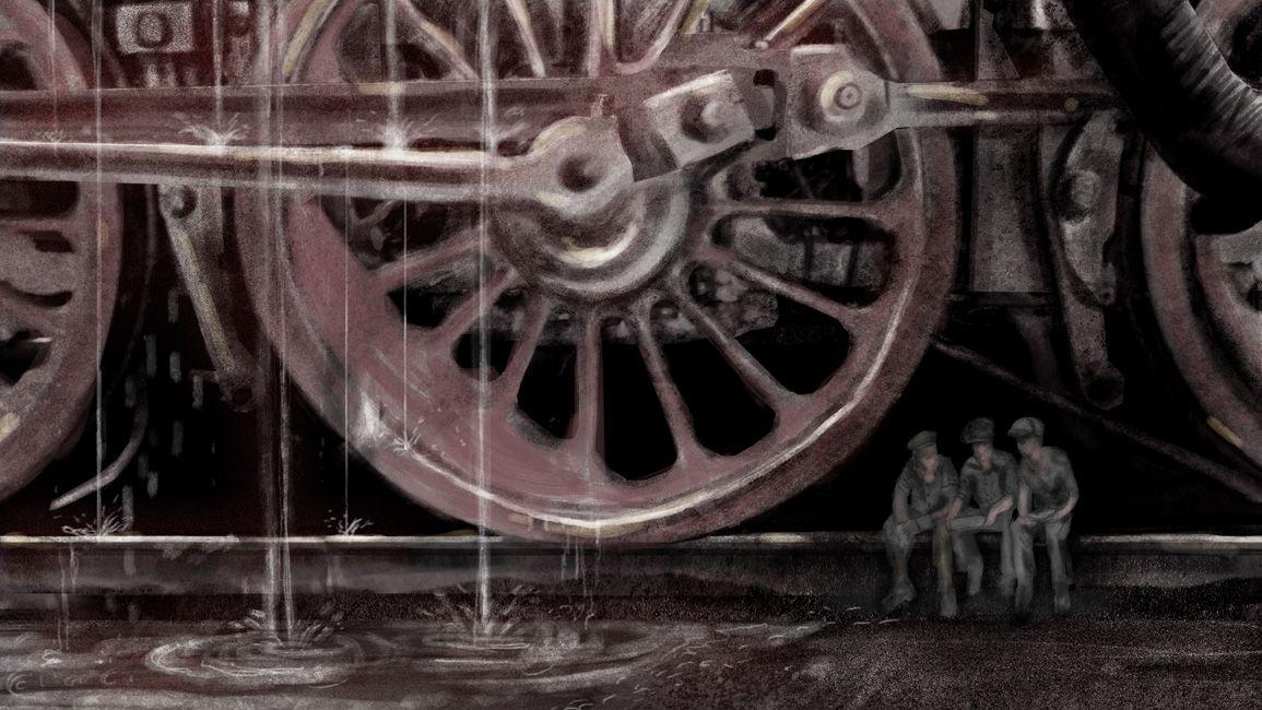 Ocelové město – výtvarná koncepce filmu autor: Ondřej Lipenský  2014  diplomová práce – DAMU  školitel: Martin Kurel, oponent: Ondřej Nekvasil  Práce je výtvarným návrhem filmu na základě Verneova románu Ocelové město. Součástí byla rozvaha nad celkovým konceptem i konkrétním výtvarným a technickým řešením jednotlivých scén představených ve formě malovaných výjevů z předlohy.