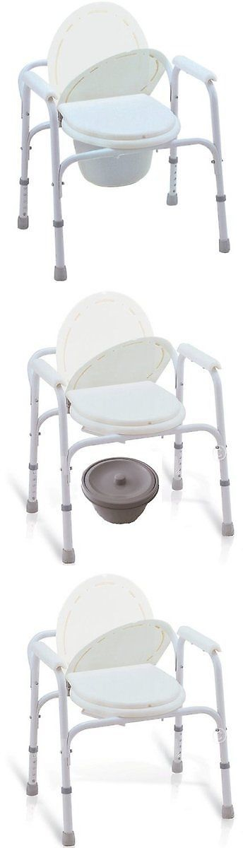 Toilet Frames and Commodes: Medmobile® Bedside Commode Toilet Seat ...