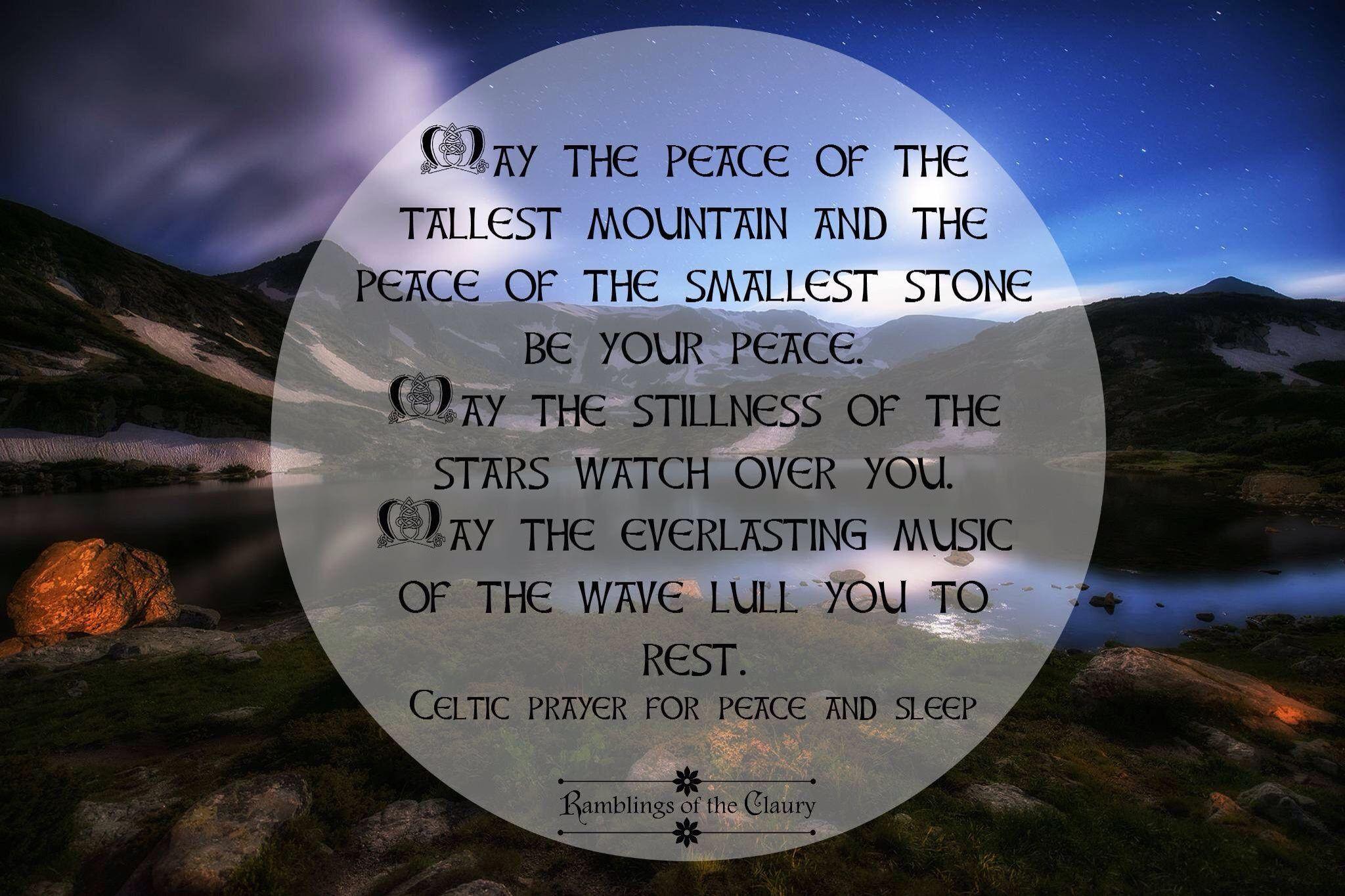 Rest and sleep Prayer for peace, Peace, Celtic prayer
