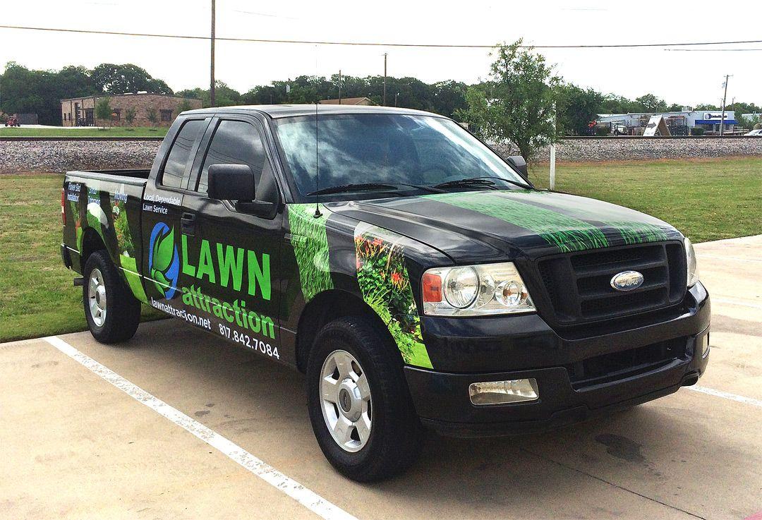 2 pc set Lawn Care Door Sides car truck van work Sticker Decal custom trailer