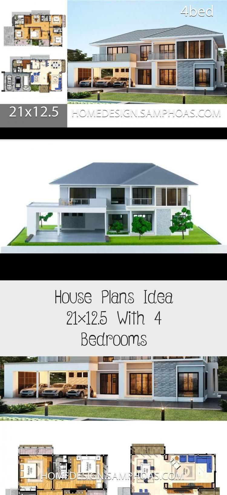 House Plans Idea 21x12 5 With 4 Bedrooms Home Ideassearch Cottagefloorplans Squarefloorplans Homefloorplans Floorpl In 2020 Cottage Floor Plans House Plans House