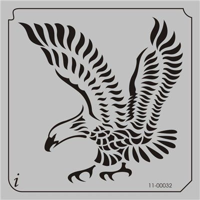 11-00032 Bald Eagle Tattoo Stencil | Stencils | Quilting
