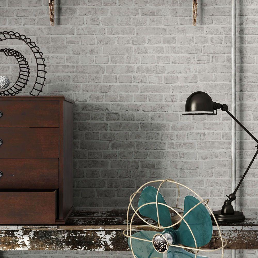 details zu vlies tapete beige ziegel stein mauer wohnzimmer 3d, Wohnzimmer dekoo