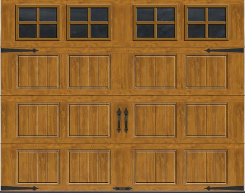 Ideal Door Reg Carriage House 9 Ft X 7 Ft Ultra Grain Reg Medium Oak Premium Insulated Garage Door With Garage Door Design Garage Doors Garage Door Styles