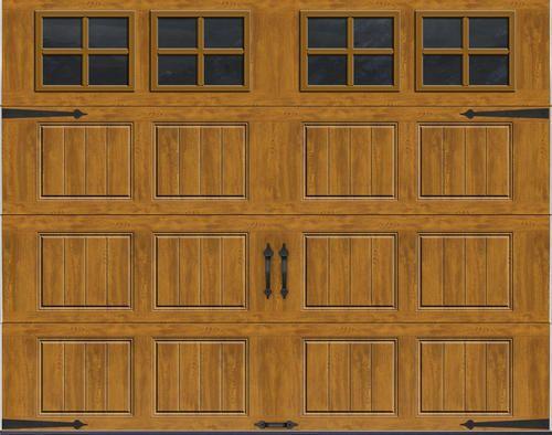 Ideal Door Reg Carriage House 9 Ft X 7 Ft Ultra Grain Reg Medium Oak Premium Insulated Garage Door With S Oak Garage Doors Garage Doors Garage Door Design