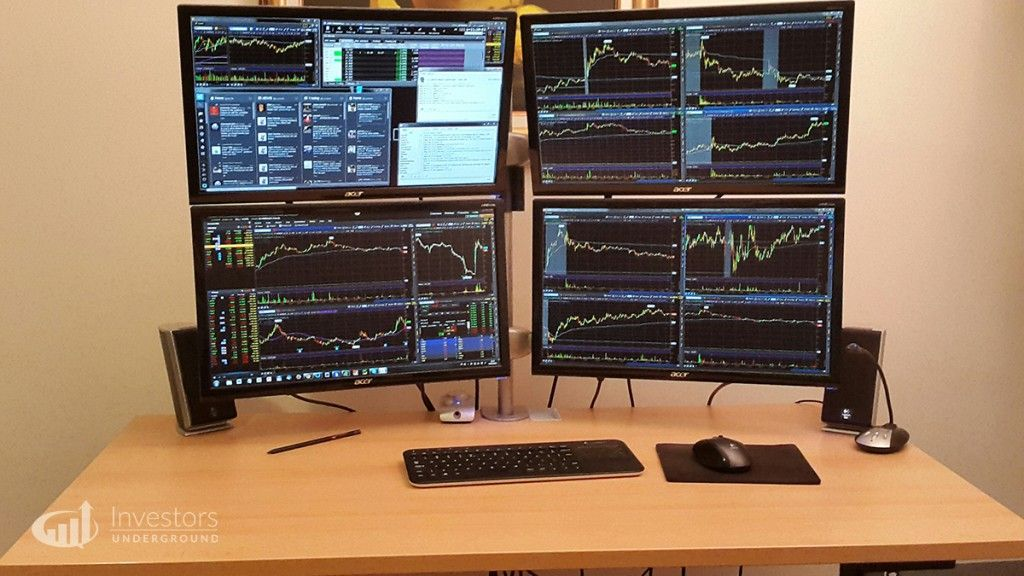 Trading Desks And Monitors From 24 Top Traders In 2020 Trading Desk Office Setup Home Office Setup