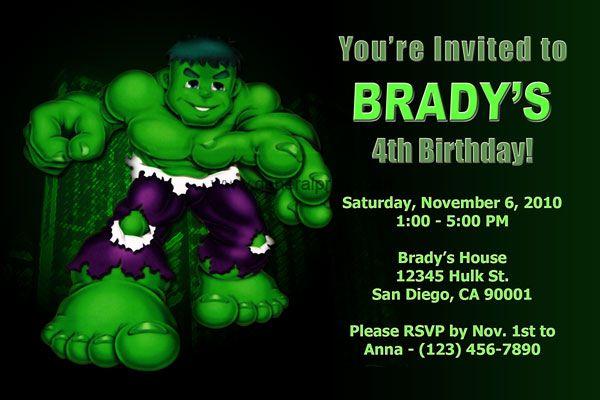 8f0eb4592af690f0f098e0e18107db29 www generalprints com images invitations birthday party,Hulk Birthday Invitations