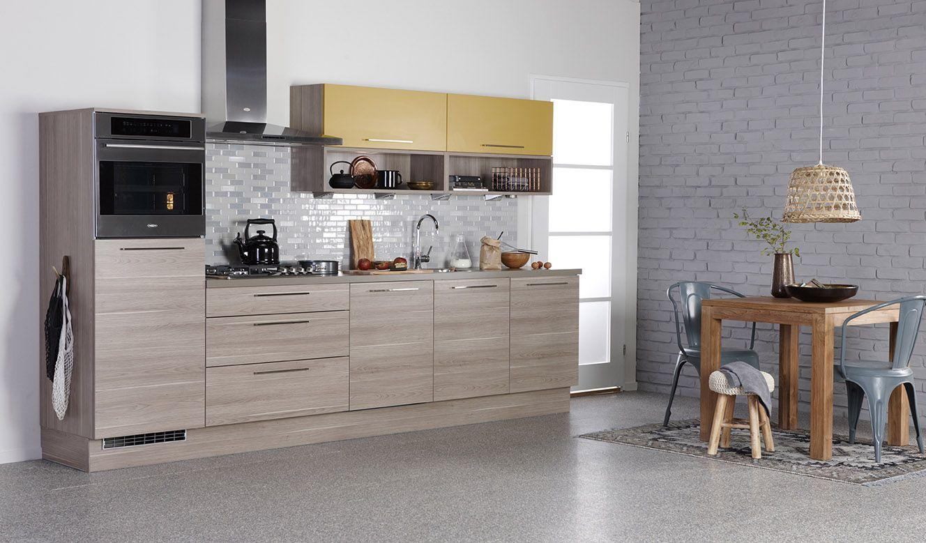Bruynzeel atlas keuken in de kleuren verona eiken trendkleur saffraan onze keukens pinterest - Trendkleur keuken ...