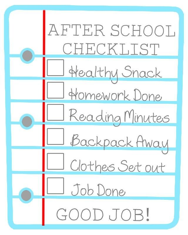daily checklist for kids