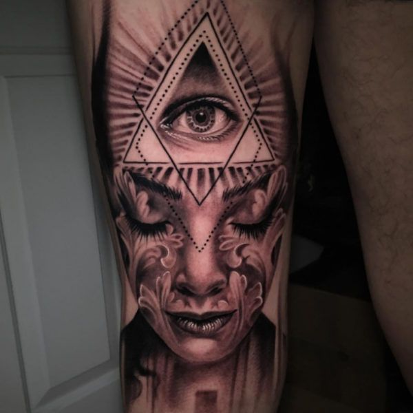 Illuminati Tattoo And Portrait Httptattootodesigncom