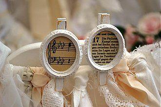 Dekorácie - štipce nie len svadobné... - 2662324