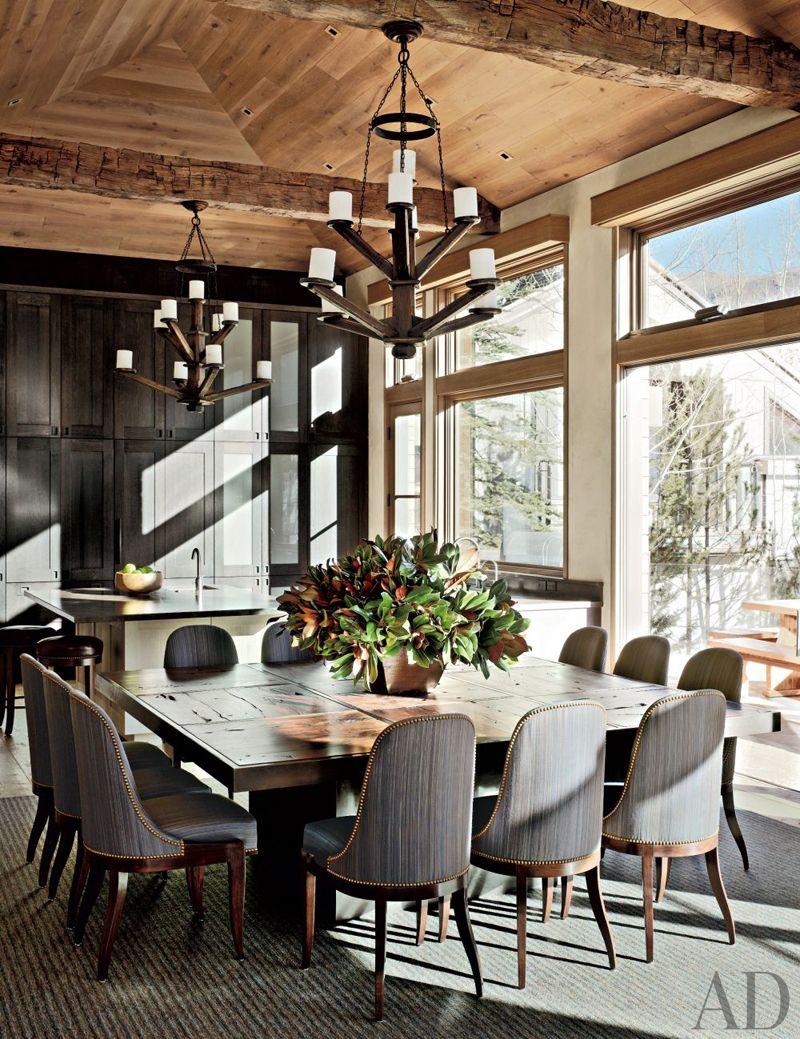 AD DesignFile | Rustic Dining Room by Stephen Sills Associates | Aspen Colorado