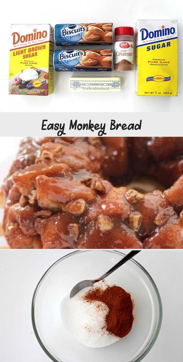 Easy Monkey Bread - RECIPE #monkeybreadwithcannedbiscuits This SUPER Easy Monkey Bread will be perfect for a quick breakfast or even dessert. You can feed a crowd with this deliciousness. Since we use store bought biscuits, you can have it made in just a few minutes time. #EasyrecipesAppetizers #EasyrecipesForTwo #EasyrecipesSweet #EasyrecipesForBeginners #BestEasyrecipes #monkeybreadwithcannedbiscuits