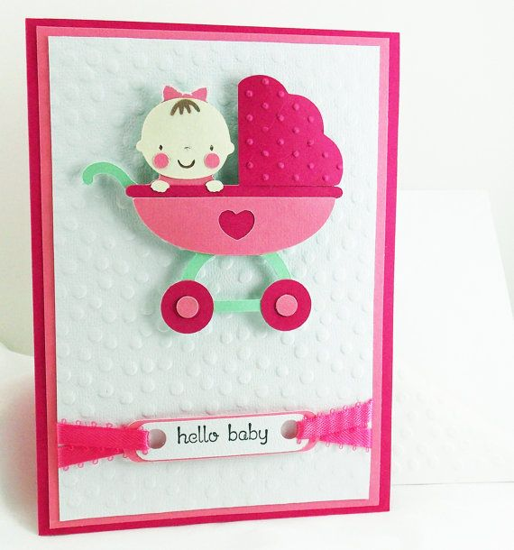 Cute; Cricut Baby Steps Card Idea.
