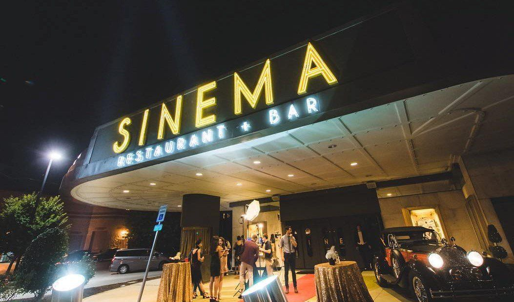 Enjoy your dinner in a converted movie theater at sinema