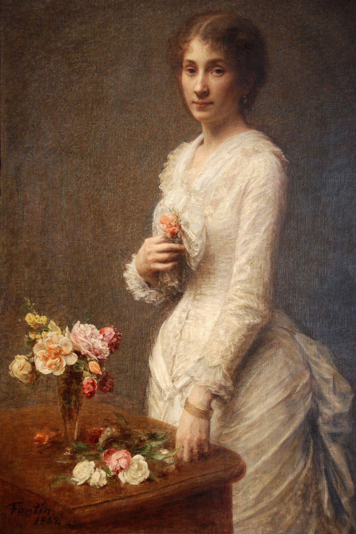 Cleveland Museum Of Art - Madame Lerolle Le Vase Dans Portrait Henri Fantin Latour