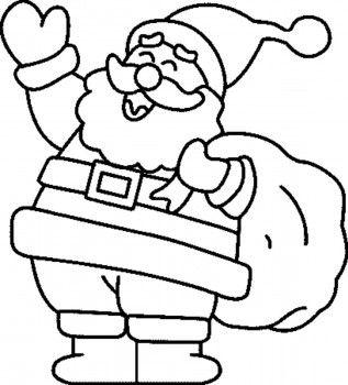 Papa Noel Para Colorear Dibujos De Navidad Faciles Papa