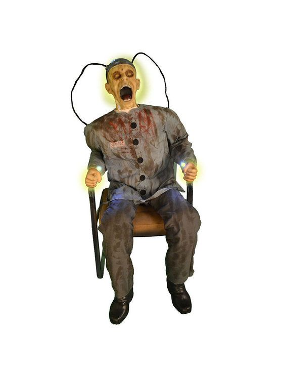 Animated Electrocuted Prisoner Death Row Prop Halloween - scary halloween props