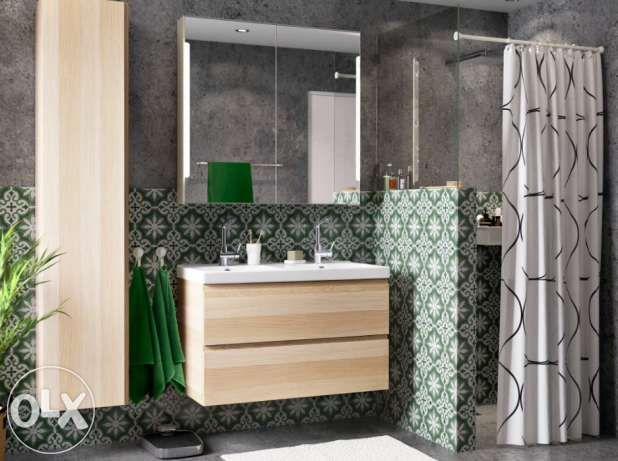 Szafka łazienkowa Z Lustrem Oświetlenie Led Ikea Storjorm 50 Off
