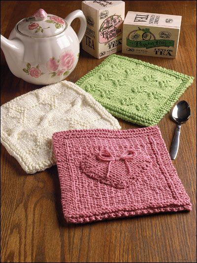 Raised Heart Falling Leaves A Bit Of Scotland Potholders Knitting